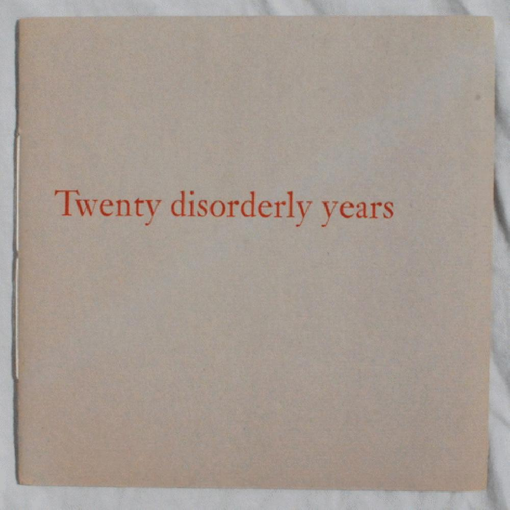 Image for Twenty Disorderly Years.