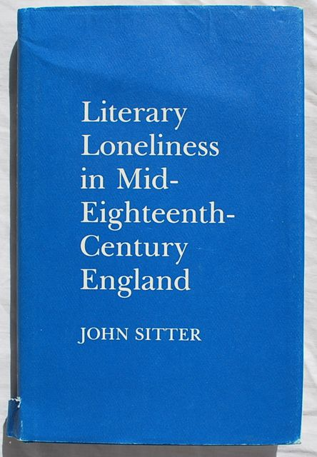 Image for Literary Loneliness in Mid-Eighteenth-Century England