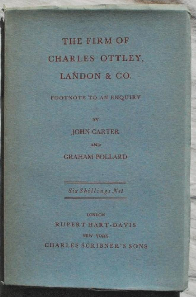 Image for The Firm of Charles Ottley, Landon & Co. Footnote to an Enquiry.