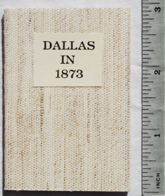 Image for Dallas in 1873: An Invitation to Immigrants.
