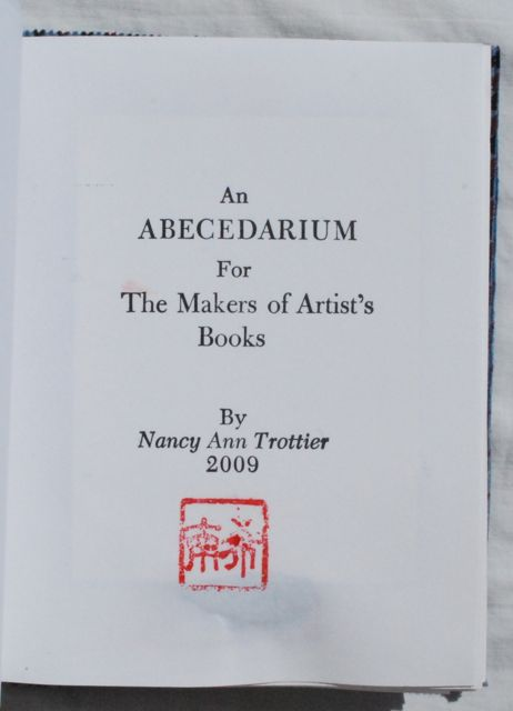Image for An ABECEDARIUM For The Makers of Artist's Books.