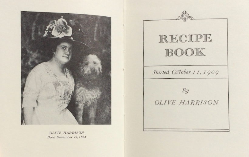 Image for Recipe Book, Started October 11, 1909.