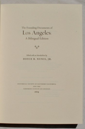 Image for The Founding Documents of Los Angeles: A Bilingual Edition