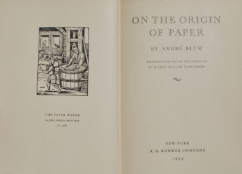 Image for On the Origin of Paper