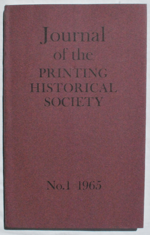 Image for Journal of the Printing Historical Society, No. 1, 1965.
