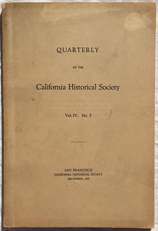 Image for The First Native-Born Californian Physician: A Memoir of Dr. Platon Mariano Guadalupe Vallejo.