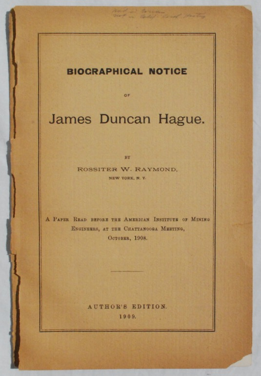 Image for Biographical Notice of James Duncan Hague.