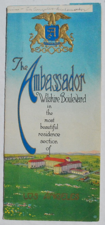 Image for The Ambassador Hotel on Wilshire Boulevard.
