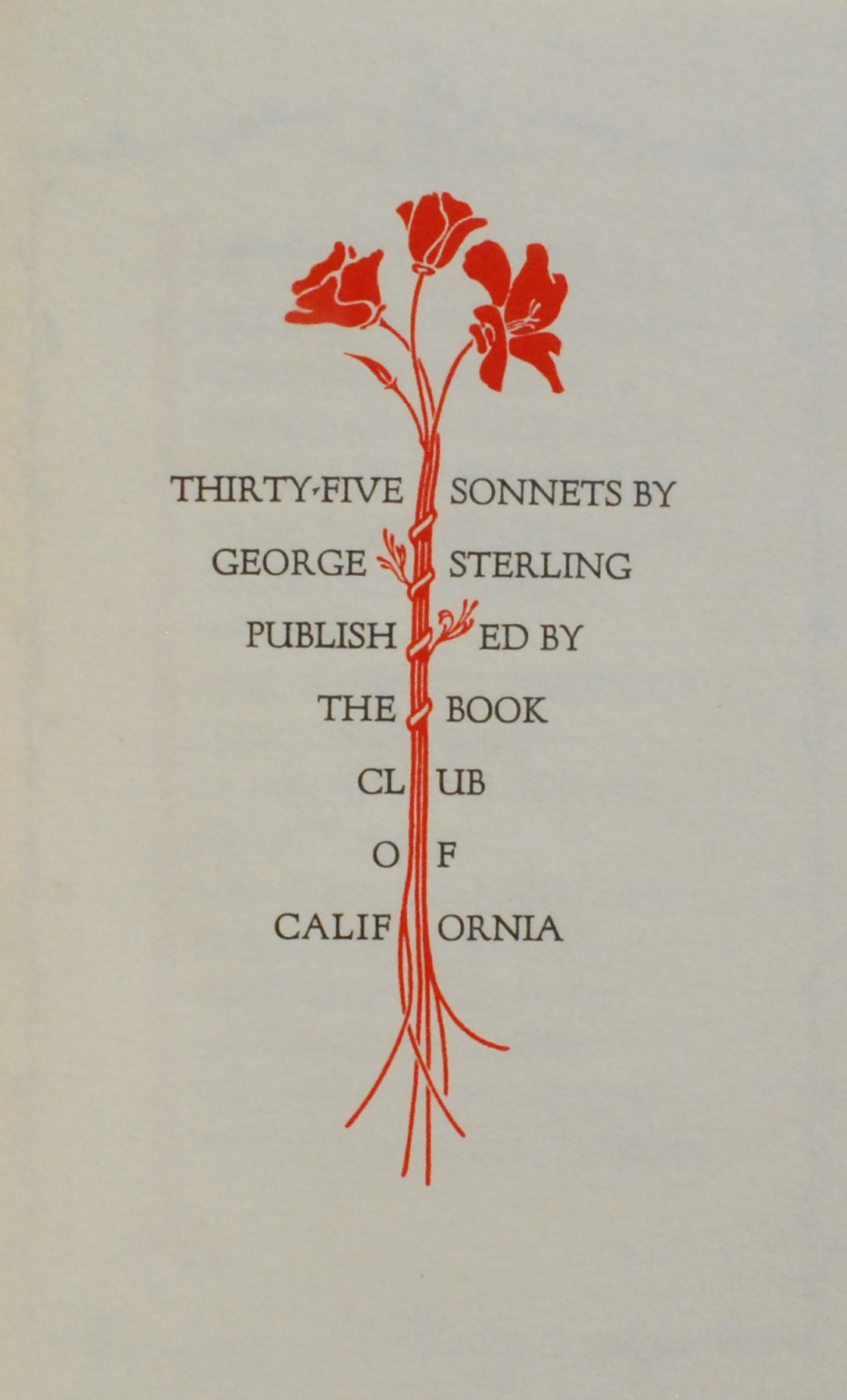Image for Thirty-five Sonnets by George Sterling.