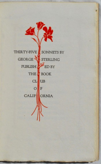 Image for Thirty-Five Sonnets by George Sterling