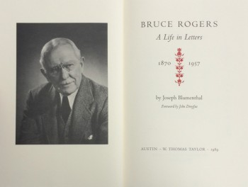 Image for Bruce Rogers: A Life in Letters, 1870-1957