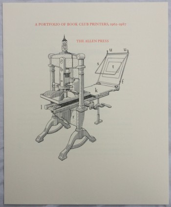 Image for A Portfolio of Book Club Printers, 1962-1987 [Cover Title]