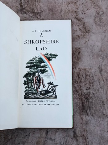 Image for A Shropshire Lad. Decorations by Edw A. Wilson