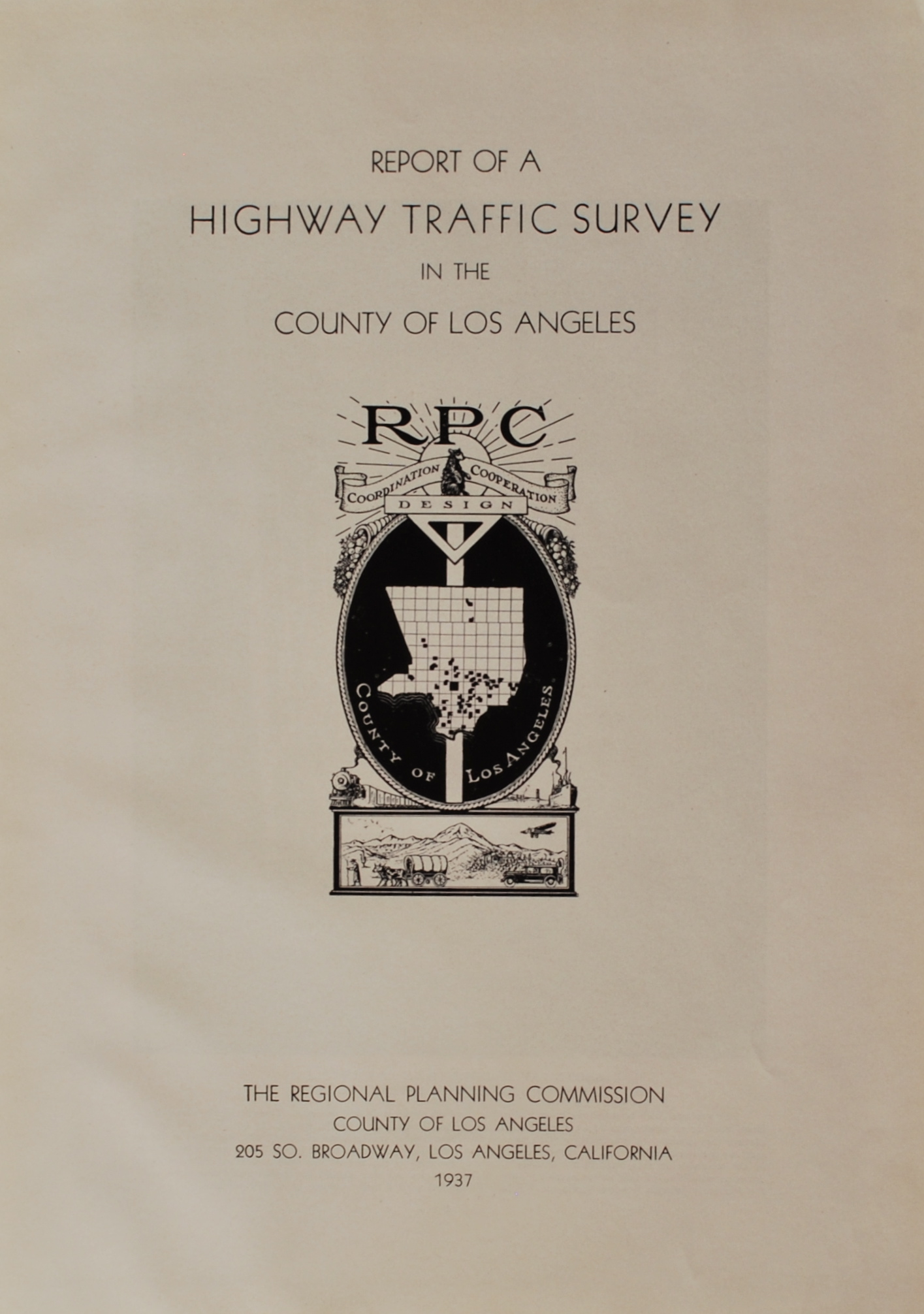 Image for Report of a Highway Traffic Survey in the County of Los Angeles.