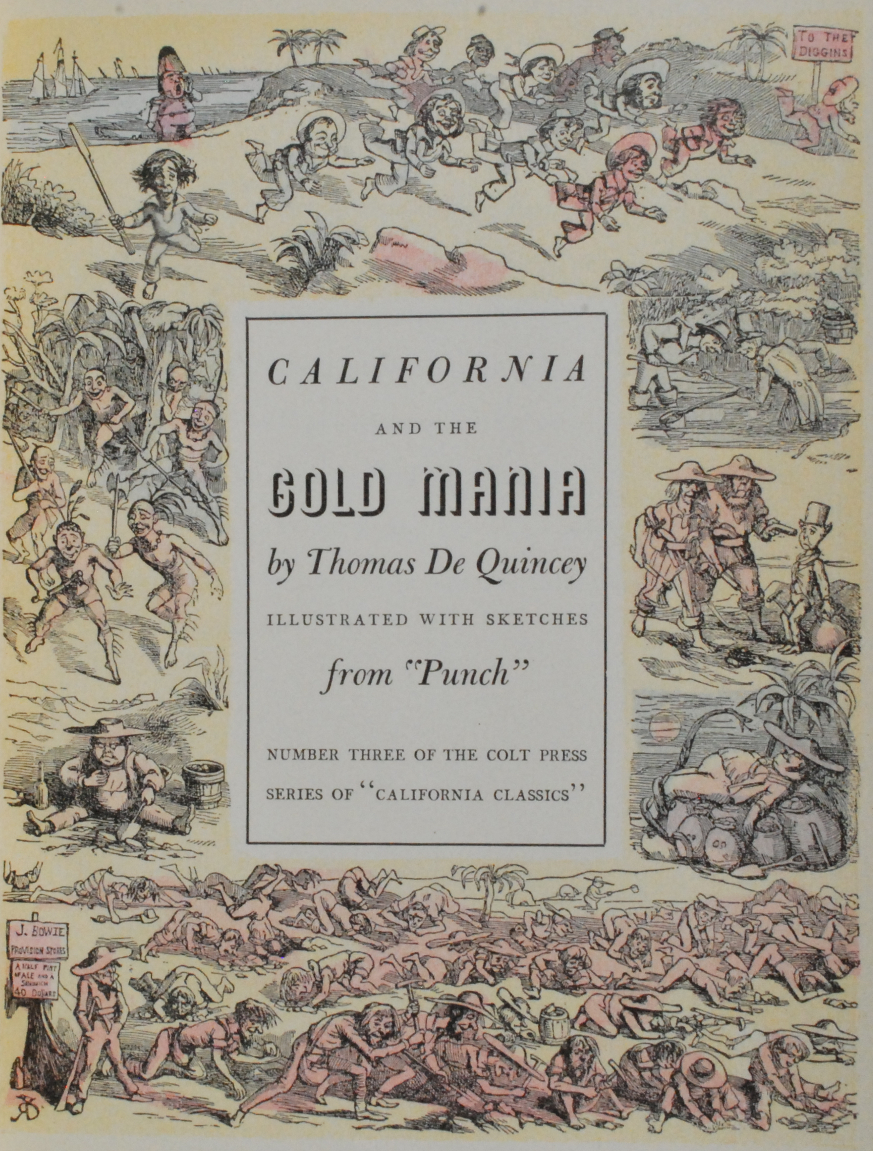 "Image for California and the Gold Mania, Illustrated with Sketches from ""Punch."""