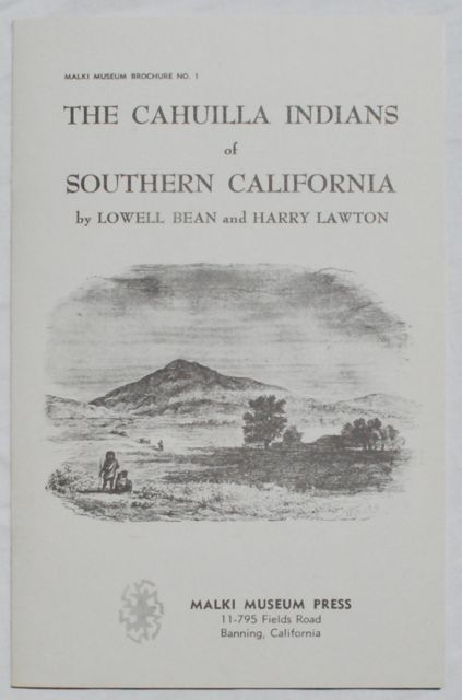 Image for The Cahuilla Indians of Southern California.