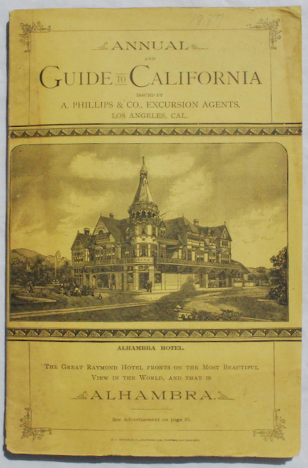 Image for Annual and Guide to California, issued by A. Phillips & Co., Manager of Boston and California Excursions