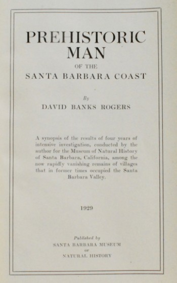 Image for Prehistoric Man of the Santa Barbara Coast