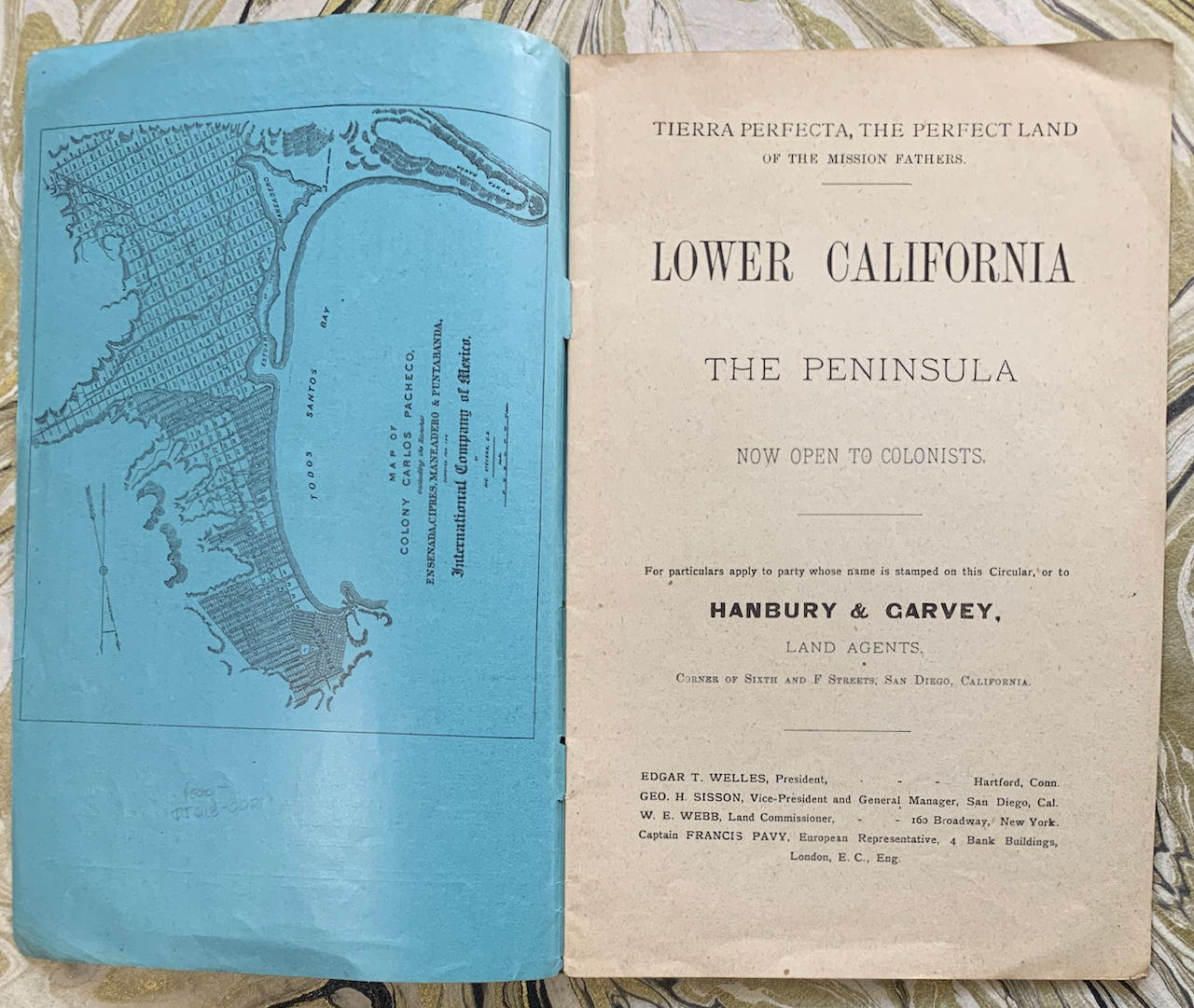 Image for Tierra Perfecta, or Perfect Land of the Mission Fathers. Lower California, The Peninsula, Now Open to Colonists