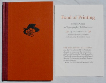 Image for Fond of Printing: Gordon Craig as Typographer & Illustrator