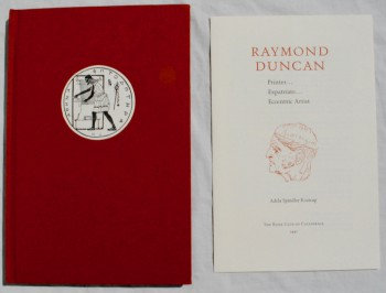Image for Raymond Duncan: Printer, Expatriate, Eccentric Artist