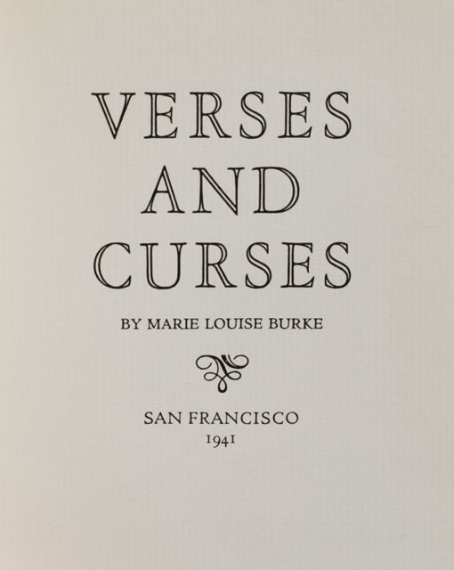 Image for Verses and Curses.