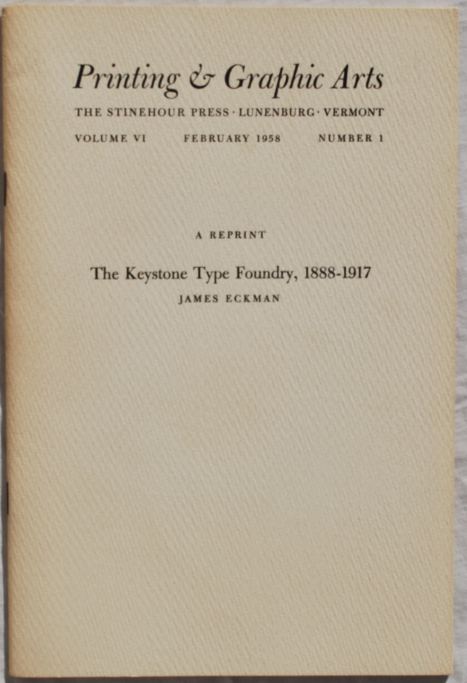 Image for The Keystone Type Foundry, 1888-1917