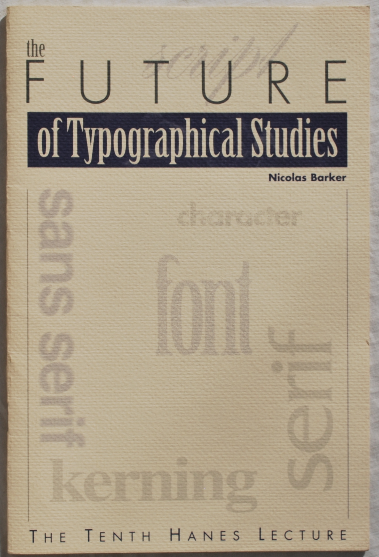 Image for The Future of Typographical Studies.