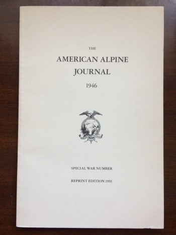 Image for The American Alpine Journal, 1946.  Special War Number.  Reprint Edition, 1991.