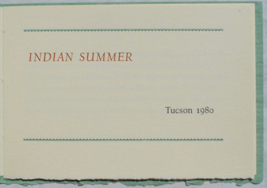 Image for Indian Summer.