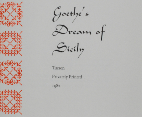Image for Goethe's Dream of Sicily.
