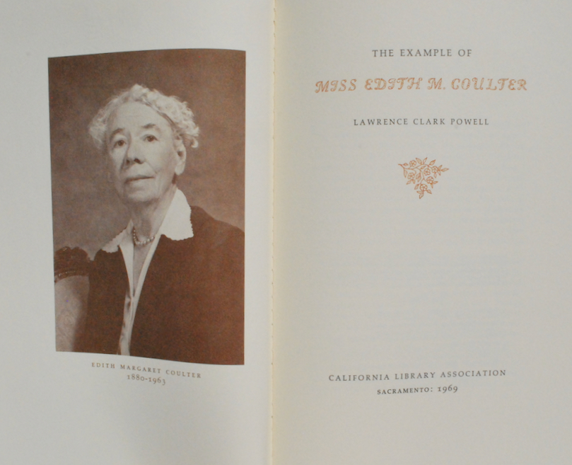 Image for The Example of Miss Edith M. Coulter.