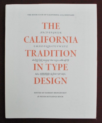 Image for The California Tradition in Type Design