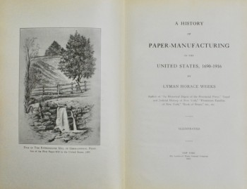 Image for A History of Paper-Manufacturing in the United States, 1690-1916