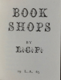 Image for Book Shops