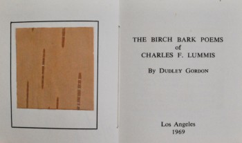 Image for The Birch Bark Poems of Charles Lummis