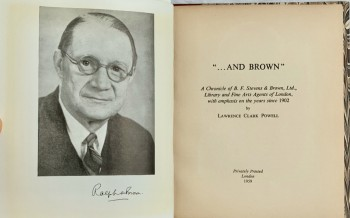 "Image for ""And Brown"": A Chronicle of B. F. Stevens & Brown, Ltd., Library and Fine Arts Agents of London, with emphasis on the years since 1902"