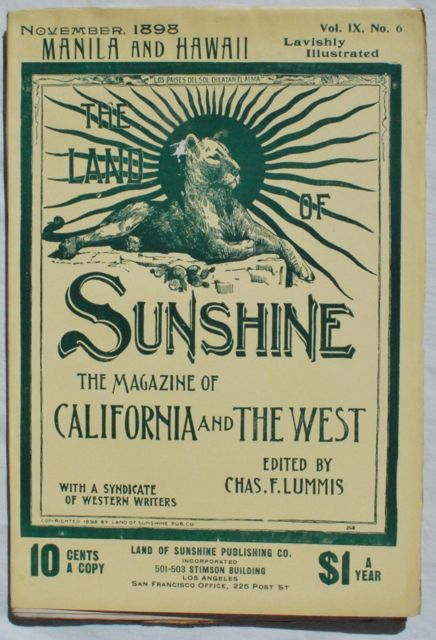 Image for The Land of Sunshine: The Magazine of California and the West. Volume IX, No. 6, November, 1898.