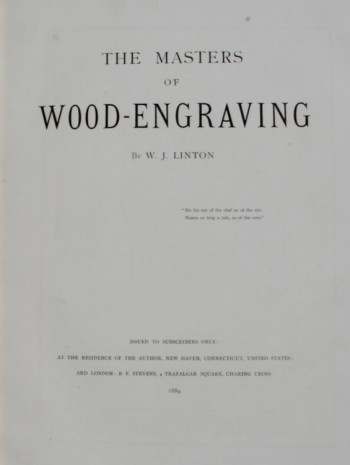 Image for The Masters of Wood-Engraving