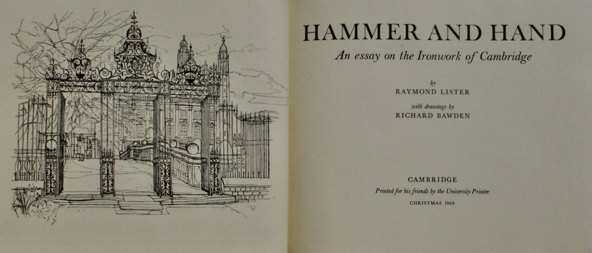 Image for Hammer and Hand: An Essay on the Ironwork of Cambridge