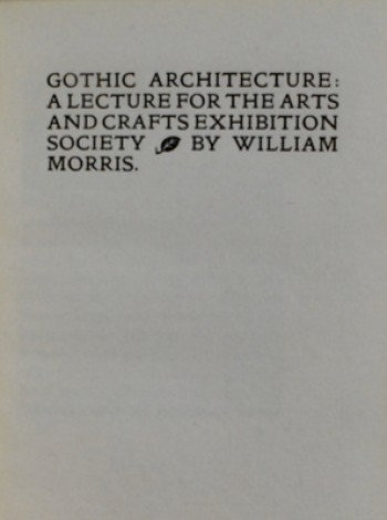 Image for Gothic Architecture: A Lecture for the Arts and Crafts Exhibition Society