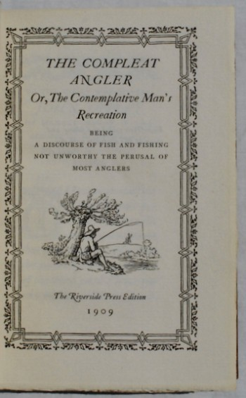 Image for The Compleat Angler, or, The Contemplative Man's Recreation