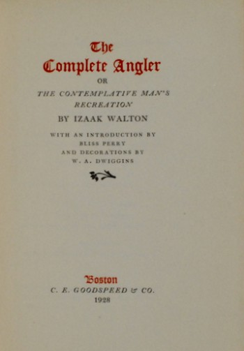 Image for The Complete Angler, or, The Contemplative Man's Recreation