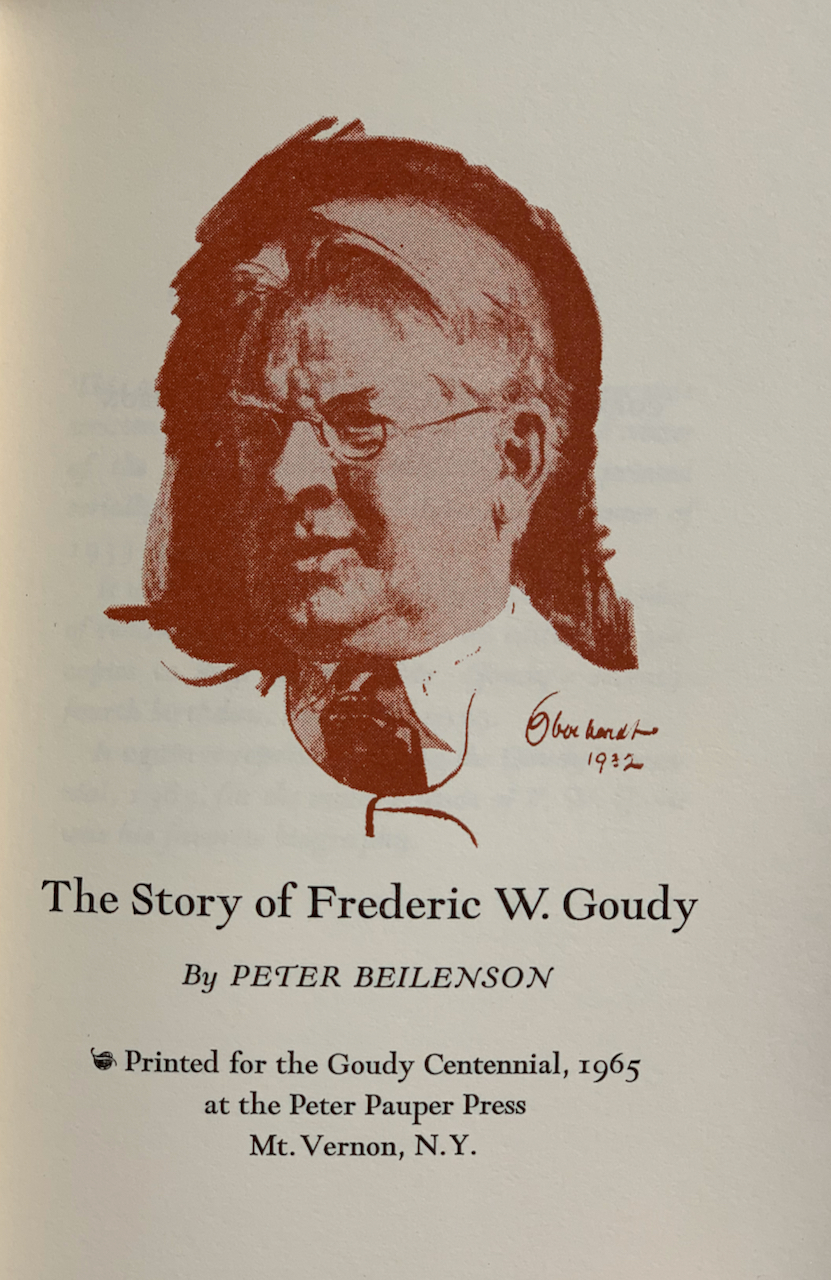 Image for The Story of Frederic W. Goudy