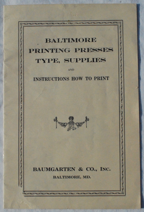 Image for Catalogue of Baltimore Printing Presses, Type, Supplies, and Instructions How to Print.