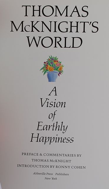 Image for Thomas McKnight's World: A Vision of Earthly Happiness.