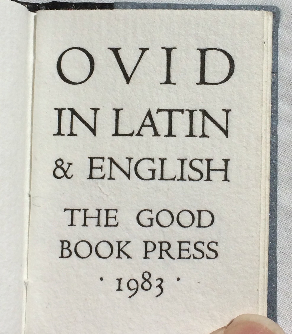 Image for Ovid in Latin and English.