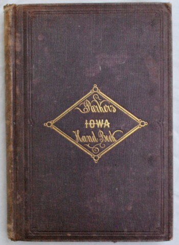 Image for The Iowa Handbook, for 1856. With a New and Correct Map