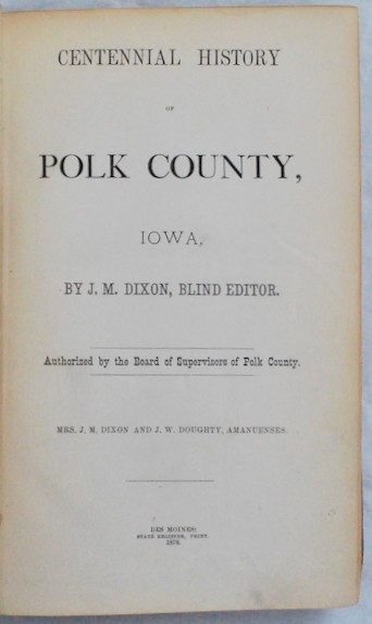 Image for Centennial History of Polk County, Iowa